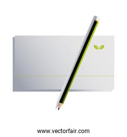 envelope with pencil and brand corporate branding
