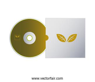 cd of logo with packaging of envelopes for branding