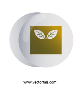 design of logo with leaf for corporate company