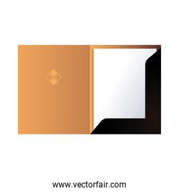 folder with paper and corporate design