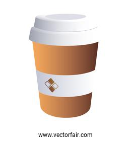 coffee cup dark with corporate designs
