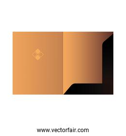 document folder with corporate design and logo