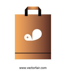 paper bag with handle and logo corporate design