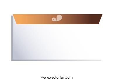 envelope with border and design