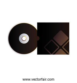 cover black and cd with corporate identity