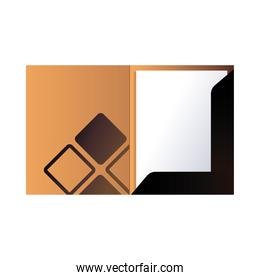 folder with corporate image and colors