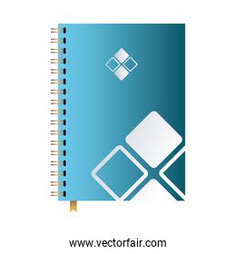 notebook with desing brand logo