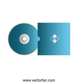 cover and cd blue with corporate identity