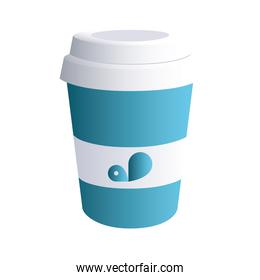 coffee cup blue with corporate designs