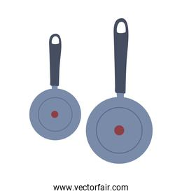 Metal kitchen utensils frying pan for cooking
