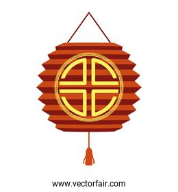 chinese red lamp with symbol decorative hanging icon