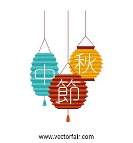 chinese colors lamps decorative hanging icons