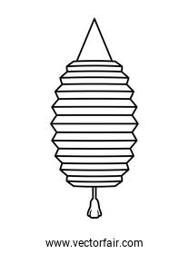 chinese lamp decorative hanging style line icon