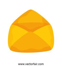 Envelope mail message open isolated icon