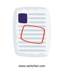 paper document file with seal isolated icon