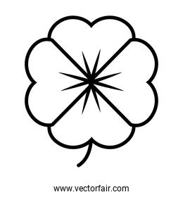 beautiful flower icon, line style