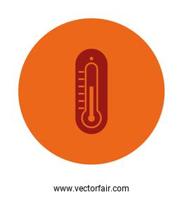 thermometer icon image, block style