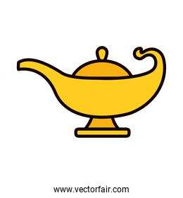 magic lamp icon, line and fill style