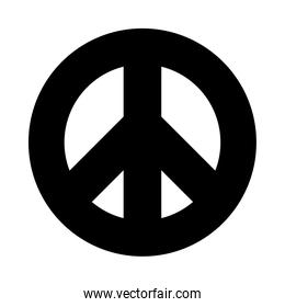 symbol of peace icon, silhouette style