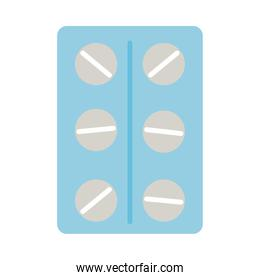pills blister, flat style icon