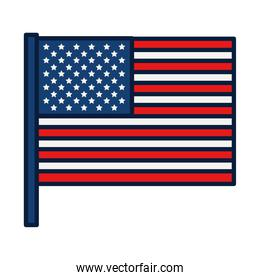 Usa flag icon, line and fill style