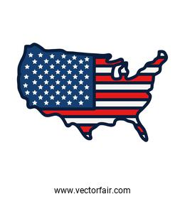 usa map icon, line and fill style