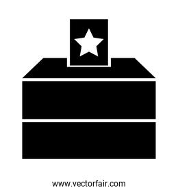 Election Polling Box Icon, silhouette style