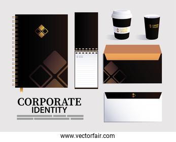 notebook elements of brand identity