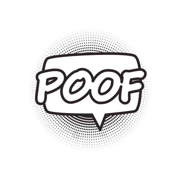 poof bubble line style icon vector design