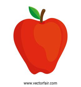 apple red fruit on white background