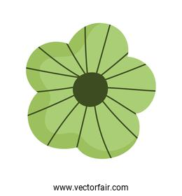 flower ornament decoration green isolated icon white background