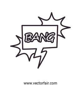 bang explosion bubble line style icon vector design