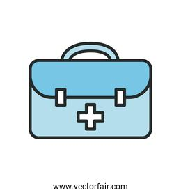 Medical kit line and fill style icon vector design