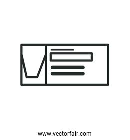 Medical test line style icon vector design