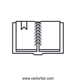 book open linear style isolated icon