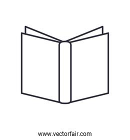 book open linear style icon