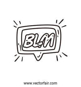 Black lives matter in bubble line style icon vector design