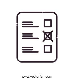 president election options paper line and fill style icon vector design
