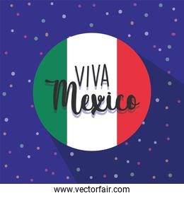 mexican independence day, viva mexico is celebrated on september, flag round banner dotted decoration