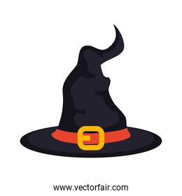 halloween, hat witch icon on white background