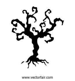 dry tree icon on white background