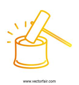 hammer law justice white background gradient style icon
