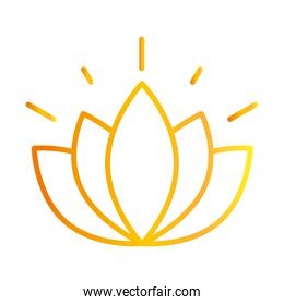 flower lotus nature decoration white background gradient style icon