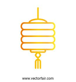 chinese ornament decoration lantern traditional gradient style icon