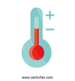 thermometer temperature measure instrument flat icon with shadow