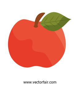 fresh fruit apple harvest flat icon with shadow