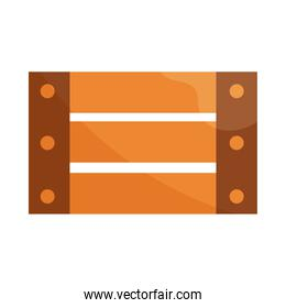 wood basket rustic flat icon with shadow