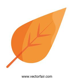 leaf foliage natural flat icon with shadow