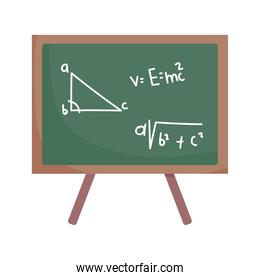 happy teachers day, blackboard arithmetic math class, isolated icon white background