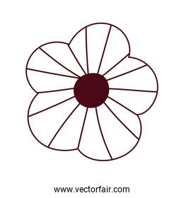 flower ornament decoration isolated icon white background line style